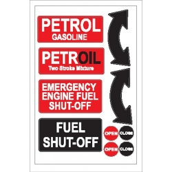 Petrol/Fuel Shut Off Sticker