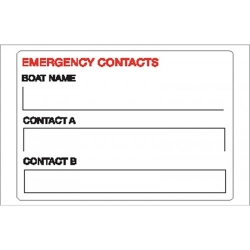 Emergency Contact Sticker
