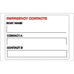 Emergency Contact Sticker