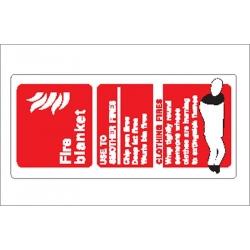 Fire Blanket Sticker
