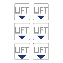 Lift Point Sticker