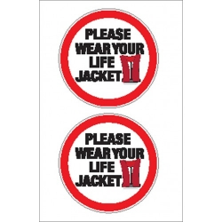 Please Wear Lifejackets Sticker