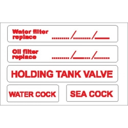 Water/Oil Filter Sticker