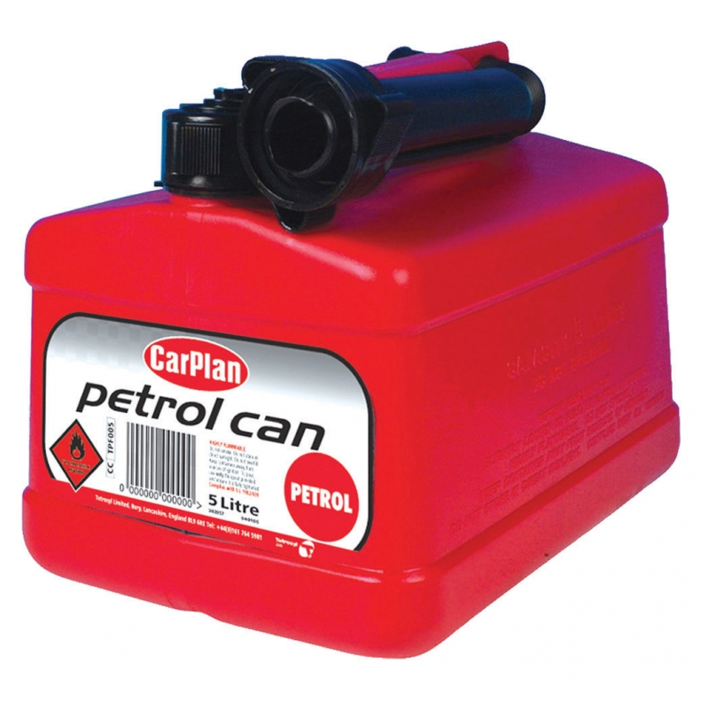 Petrol Jerry Can - Red (5Ltr) by Car Plan