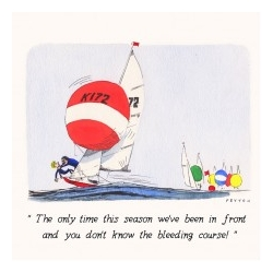 Greeting Card - In front of the fleet by Mike Peyton