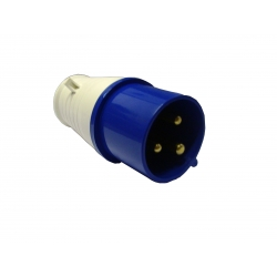 Industrial Plug 16A IP44 Blue