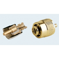 PL259 Connector. Gold Plated. Solderless.
