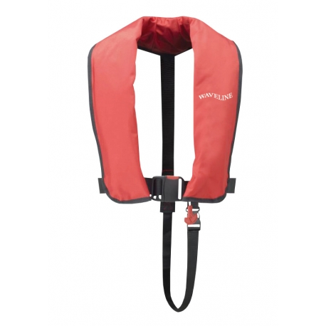 165N ISO Red Manual LifeJacket With Crutch Strap