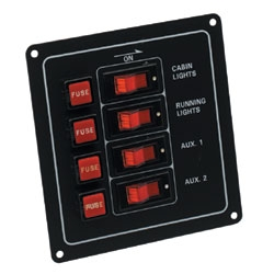 4 Way Fuse - Switch Panel