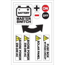 Battery, Shore Power Sticker