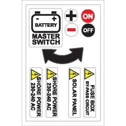 Battery, Shore Power Sticker