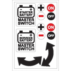 Battery Master Switch Sticker