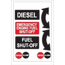Diesel Shut Off  Sticker